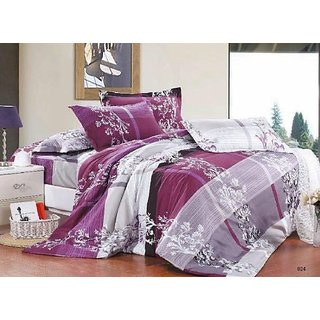 Sai Arpanu0027s Premium Polyester Bed Sheets With 2 Pillow Covers