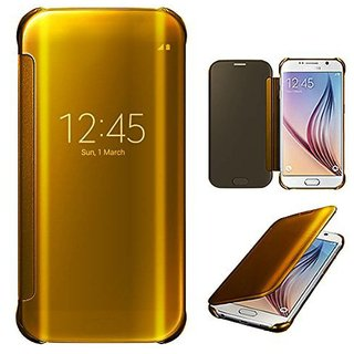 big sale b38b8 5e56a BM MIRROR FLIP COVER SAMSUNG GALAXY A9 PRO GOLD