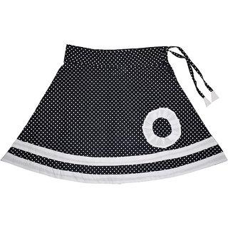Flora's Self Design Cotton Skirt For Girls