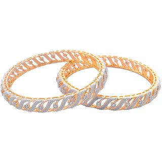 American Diamond Bangles Set for Girls and Women Size2.8