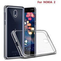 NOKIA  2      Soft Silicon High Quality Ultra-thin Transparent Back Cover.