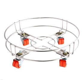 GAS CYLINDER TROLLY/STAND STAINLESS STEEL LPG GAS STAND KITCHEN TOOLS