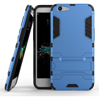 Oppo A57 Robotic Back Cover.Kickstand Hard Dual Rugged Armor Hybrid Bumper Case