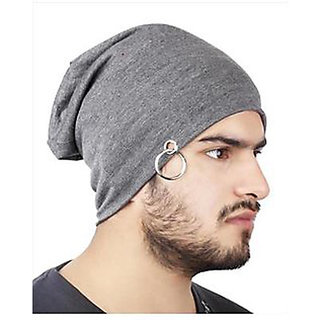 77f9a9fcb41 Buy Beanie Cap Men Beanie Baggy Slouchy cap hat with Ring thin winter fall  Hat (Color Grey) Online - Get 70% Off