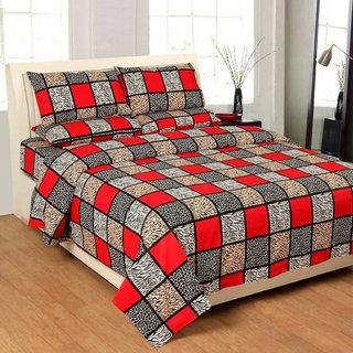 Manvi Creations pure Cotton Double Bedsheet
