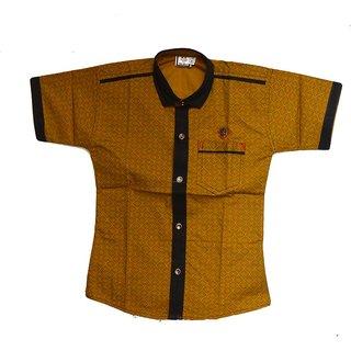 Faynci premier Solid Casual Yellow Shirt for Boy