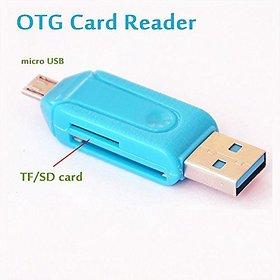 USB OTG  Card Reader 2 in 1 Kit By Sketchfab - Assorted Color