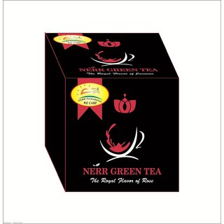 NERR Green Tea loose ,Pure Fine,From Garden, 100gm with Rose Flavor