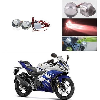 THE ONE CUSTOM Ultra Bright Scooty/Motorcycle/Bike Red Flasher Led Fog Light- Set Of 2 For Yamaha R15 s
