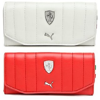 Buy Puma White-Red Clutch Wallet For Women Online - Get 80% Off dcbc99913330b