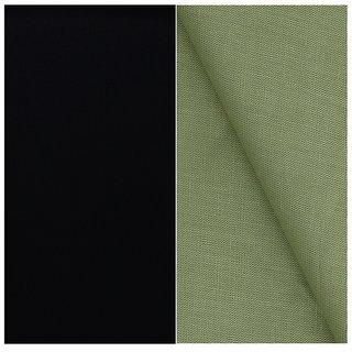 Kundan Sulz Gwalior Men's Executive Pure Cotton Linen Blended Shirt & Matt Finish Black Colour Formal Trouser Fabric Combo Set ( 1 Pant Shirt Piece for Men )