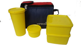 Topware Lunch Box 4 containers Microwave safe (assorted colors)