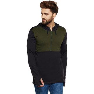 Hypernation Solid Men Hooded Sweatshirt