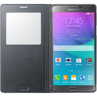 Samsung Galaxy Note 4 Case  Flip Cover Folio Case - black