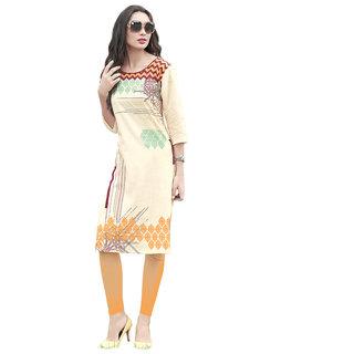 Swaron Off White,Multi Khadi Cotton Printed Stitched Kurti