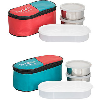 Philco Combo 3in1 Green-2in1green 5 Containers Lunch Box  (1050 ml)
