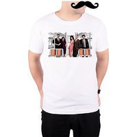 Mooch Wale How I Met Your Mother Train Art Characters  White Quick-Dri T-shirt For Men