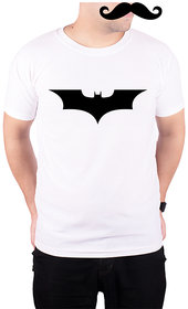 Mooch Wale Batman Logo  White Quick-Dri T-shirt For Men