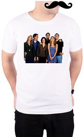 Mooch Wale Friends Behind The Scenes  White Quick-Dri T-shirt For Men