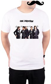 Mooch Wale One Direction Hands Print Jumpsuits  White Quick-Dri T-shirt For Men