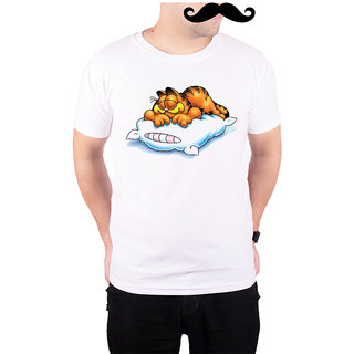 Mooch Wale Garfield Sleep Ahead  White Quick-Dri T-shirt For Men