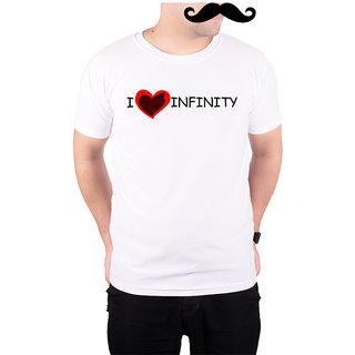 Mooch Wale I Love Infinity  White Quick-Dri T-shirt For Men