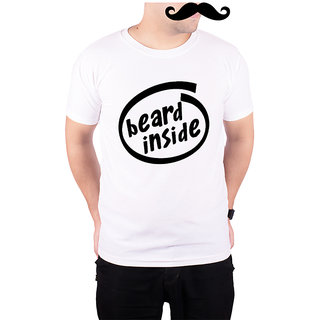 Mooch Wale Beard Inside  White Quick-Dri T-shirt For Men