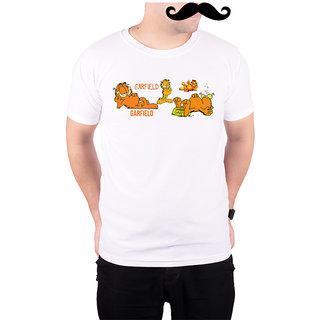 Mooch Wale Garfields  White Quick-Dri T-shirt For Men