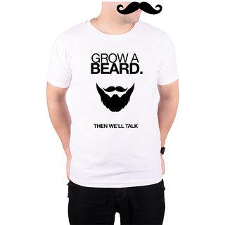 Mooch Wale Grow A Beard  White Quick-Dri T-shirt For Men