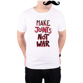 Mooch Wale Make Joint Not War  White Quick-Dri T-shirt For Men