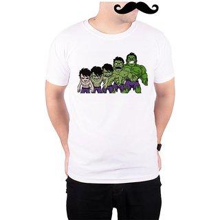 Mooch Wale Bruce Banner To The Hulk  White Quick-Dri T-shirt For Men