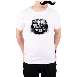 Mooch Wale May The Beard Be With You  White Quick-Dri T-shirt For Men