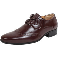 Sassie Men's Brown Brogue Formal Shoes