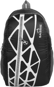 Sassie Black Gray Smart School Bag (21 Litres) (SSN-1033)