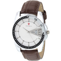 Svviss Bells Original White Dial Brown Leather Strap Da
