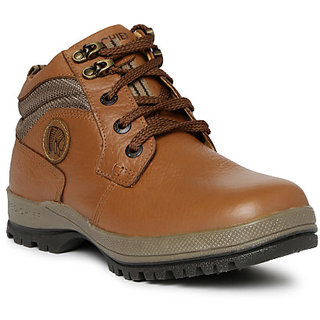 buy red chief tan men outdoor casual leather shoes rc2055