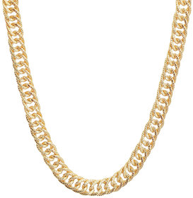 Sanaa Creations Mens Style Stainless Steel Gold Plated Alloy Mens Chain New Year Special for Men  Boys
