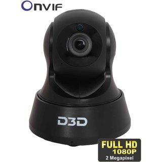 D3D Wireless Full HD (1920x1080) 2.0 MP IP Wifi CCTV indoor Security Camera (BLACK COLOR) ModelD6022Y