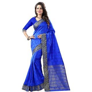 The Shopoholic Blue Cotton Silk Saree