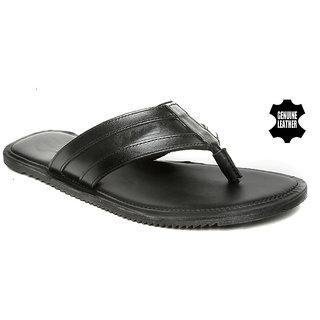 Mywalk Mens Leather Velcro Sandal