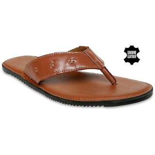 MyWalk Mens Leather Casual Slipper