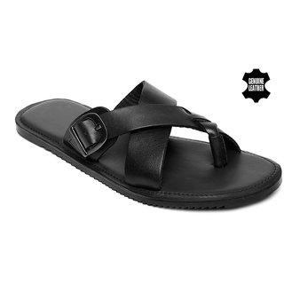 MyWalk Mens Leather Formal Slipper