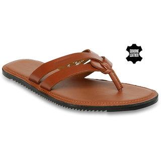 MyWalk Mens Leather Formal Slipper