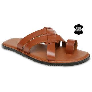 Mywalk Mens Leather Formal Slip On Sandal