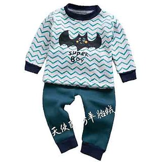 09fa327465bf Buy STAYFiT NEW KIDS WINTER PAJAMAS WORM SUITS WHITE GREEN COLOR Online -  Get 47% Off