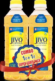 Jivo Canola Refined Edible Oil 1+1 Liter