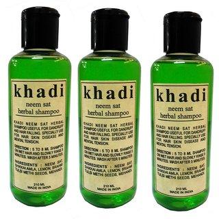 Khadi Neem Sat Shampoo 210 ML (Pack of 3)