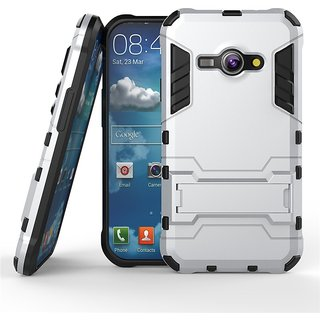 Samsung Galaxy J1 Ace Robotic Back Cover.Kickstand Hard Dual Rugged Armor Hybrid Bumper Case