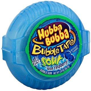 Hubba Bubba Bubble Tap Sour Blue Raspberry 6 Feet Gum 56.7gm