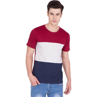 PAUSE Multi Solid Cotton Round Neck Slim Fit Short Sleeve Men's T-Shirt